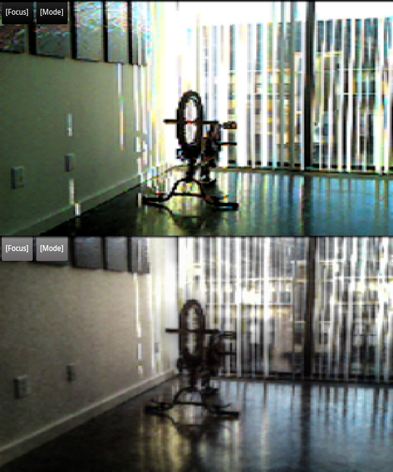 Android Camera Screen Capture-- Mid-exposure Image (top) | Contrast Mapped HDR (bottom)