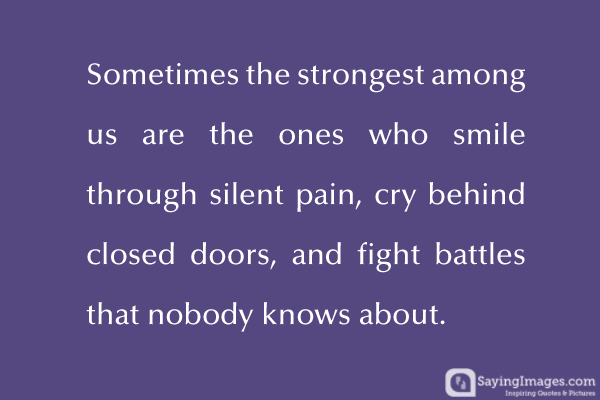 Smile Pain Battles Strong Fight
